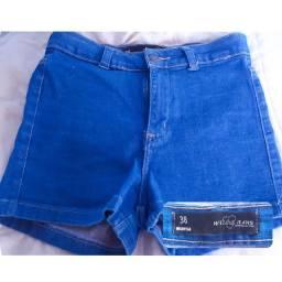 Short jeans cós alto Marisa