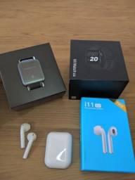 Xiaomi Mi Watch Lite + Fone Bluetooth i11 GRÁTIS por $360
