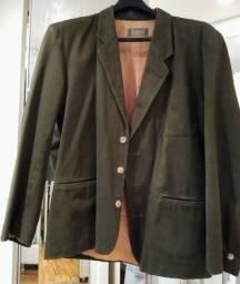 Título do anúncio: Blazer de brim verde oliva tamanho G