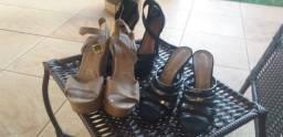 Título do anúncio: Sandálias femininas usadas e conservadas