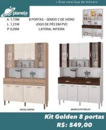 armário de cozinha com 8 portas