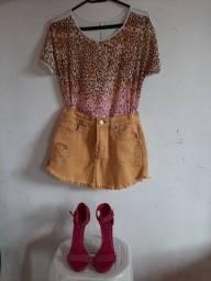 Conjunto blusa + sapato