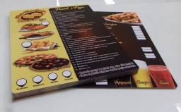 Título do anúncio: Kit 10 Cardápios Personalizados PVC
