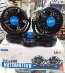 Título do anúncio: Ventilador 12v Automotivo Duplo Ajuste Forte Carro Caminhão<br><br>