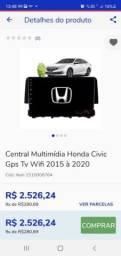 Título do anúncio: Central multimídia honda civic GPS TV wifi 2015/2020