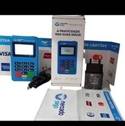 Título do anúncio: Point Mini Chip a Maquina de Cartão do Mercado Pago Chip e Wifi (Não precisa de celular)
