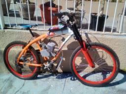 Bicicleta Motorizada 80cc - Motor 0 km - Brinde Capacete Ciclismo.