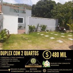 Título do anúncio: Rf  Belíssimo Duplex no Condomínio Águas Claras em Búzios/RJ.