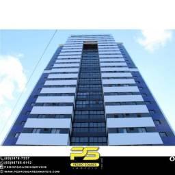 Apartamento com 3 dormitórios à venda, 71 m² por R$ 385.560 - Miramar - João Pessoa/PB
