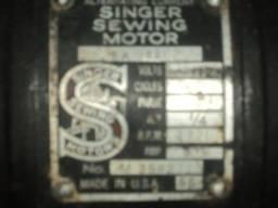 motor Singer de maquina de costura reta industrial