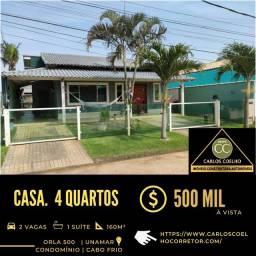 Título do anúncio: _ha ****1034<br><br><br><br>*Excelente casa no Condomínio Orla 500 em Unamar Cabo Frio/RJ.  <br>