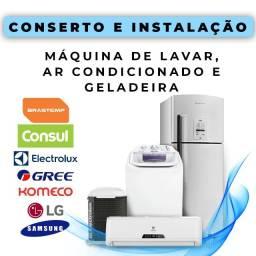 Título do anúncio: Conserto de Máquina de Lavar e Ar Condicionado