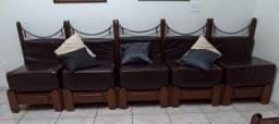 Sofá de mogno, módulos de sofá.