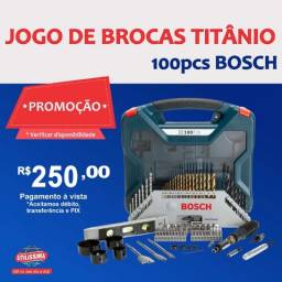 Título do anúncio:  Jogo de Ferramentas Brocas Bits X-line Titânio 100 Peças Bosch