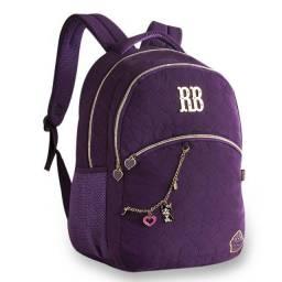 Mochila Escolar Juvenil RB8175 Rebecca Bonbon Roxa