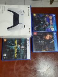 Título do anúncio: Jogos ps4 e PS5 e controle ps5 novo Lacrado