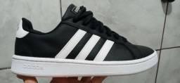 Tênis Adidas Grand Court Masculino - Preto+Branco<br><br>ORIGINAL