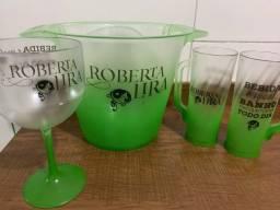 Taças e copos personalizados! 2,50!