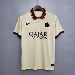 Camisa Roma Away 20/21 Nike Masculina - Bege