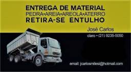 Título do anúncio: Caminhão fechado:Areia, Areola e Brita.