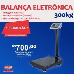 Título do anúncio: Balança Eletrônica Digital 300 kgs Alta Precisão  Entrega grátis