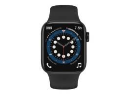 Smartwatch W66 Faz e Recebe ligações Troca Pulseira Séries 6 Android e IOS