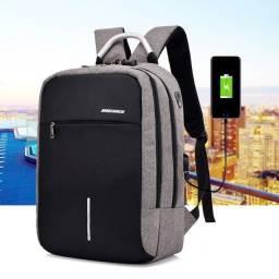 Mochila Bolsa Antifurto Impermeável Notebook USB e Fone Reforçada + (Frete Grátis)