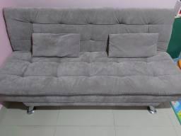 Sofa Cama Casal 3 lugares Cinza