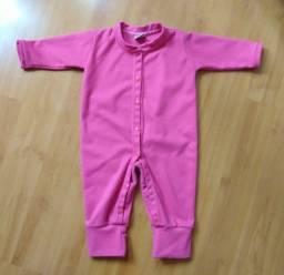 Macacão soft rosa tamanho G