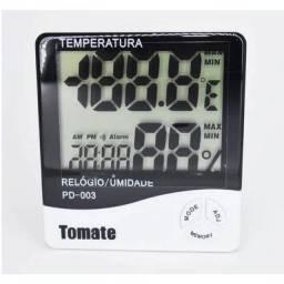 (WhatsApp) termo-higrômetro e relógio digital marca tomate mod pd-003