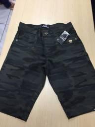 Bermuda jeans e sarja