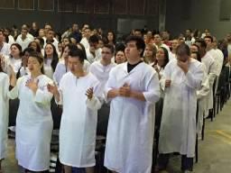 Batas De Batismo Becas com logo da igreja