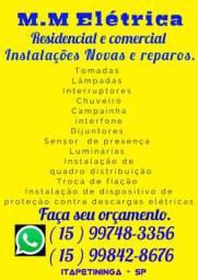Eletricista Residencial  e Comercial.