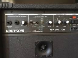 Caixa de som amplificada Wattsom/Ciclotron, pop line 100 multi uso.