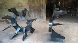 Roda auxiliar pá de ferro