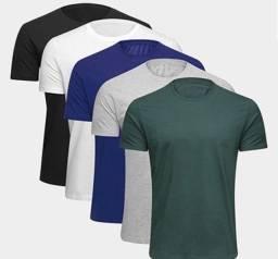 Combo 5 camisas básicas algodão