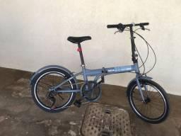 Bicicleta dobrável 7 machas nova pouco tempo de uso
