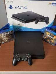 PlayStation 4 SLIM HD 500gb  com jogos