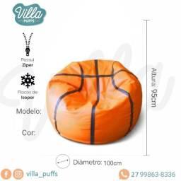 Puff Bola de basquete a pronta entrega com enchimento - Vila Velha ES