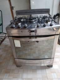 Fogão Brastemp 5 Bocas Acendimento automático Painel Digital. R$1000