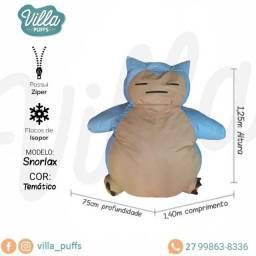 Puff Temático Snorlax para conforto dos aficionados em Pokemon