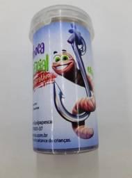 Isca Minhoca Artificial com cheiro atrativo - Frete Grátis
