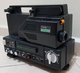 Projetor Super 8 Chinon SP-350 (com filmes)
