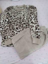 Pijama, colete e jaqueta infantil