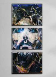 Quadro Mosaico 120x60 03 Peças Religioso Neon