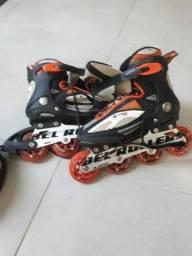 Roller com capacete