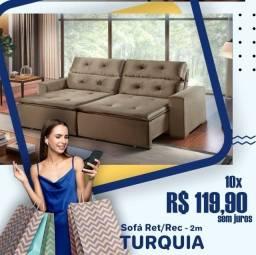 Título do anúncio: Sofá retrátil e reclinável Turquia 2.00 largura x 1,50 aberto