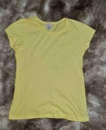 Blusa amarela tamanho 12 anos, por 25 reais