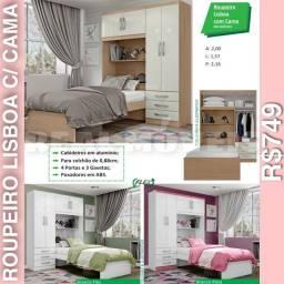 Guarda roupa Lisboa Com cama d. CV hh J