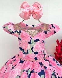 Título do anúncio: Vestido de rosas